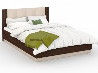 Кровать Аврора 160х200 с подъемным механизмом Венге/Дуб молочный