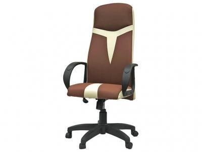 Офисное кресло Амур какао-молочный