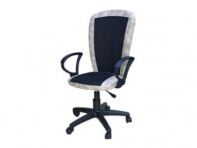 Офисное кресло Селена чёрный-капучино