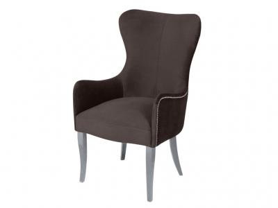 Кресло Лари коричневое опоры белые