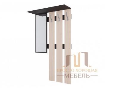Вешалка с зеркалом СВ 2 Дуб Венге/Дуб млечный