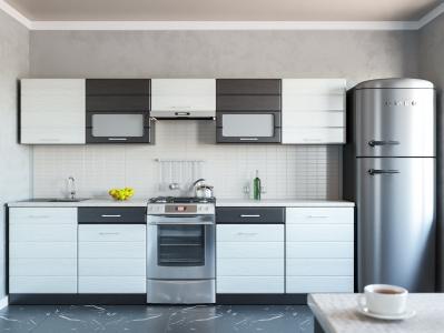 Кухня Венеция МДФ дым-венге 2400