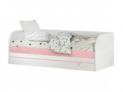 Кровать детская с подъёмным механизмом КРП-01 Трио белый/принцесса